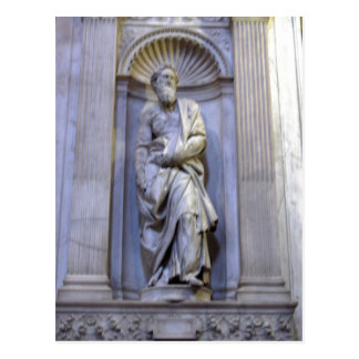 Summary Statue of Saint Peter expired implement th Postcard