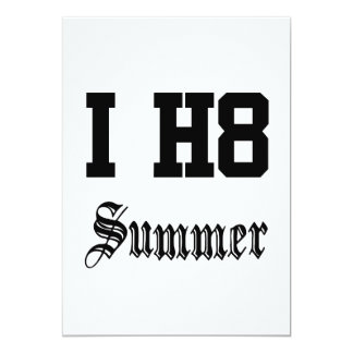 summer 13 cm x 18 cm invitation card