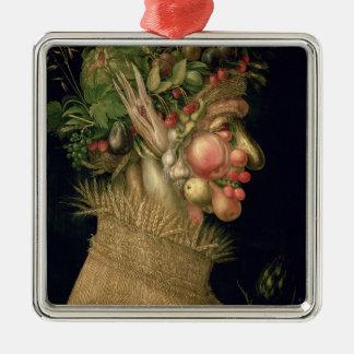 Summer, 1563, Silver-Colored square decoration