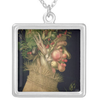 Summer, 1563, silver plated necklace