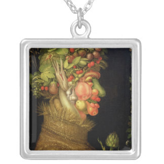 Summer, 1573 silver plated necklace