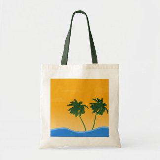 summer-679172 SUMMER VECTORS PALM TREES SUNSET OCE Budget Tote Bag