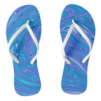 Summer Abstract Flip Flops