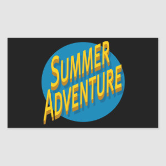 Summer Adventure Rectangular Sticker