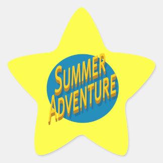Summer Adventure Star Sticker