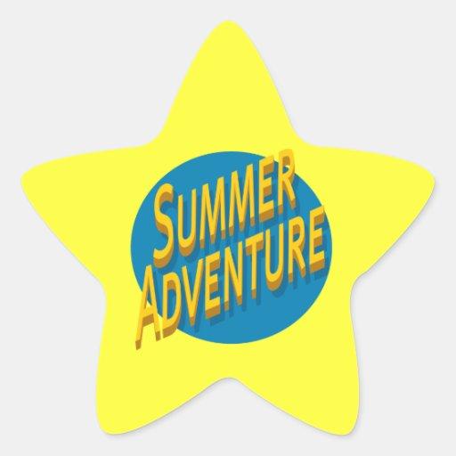 Summer Adventure Star Stickers