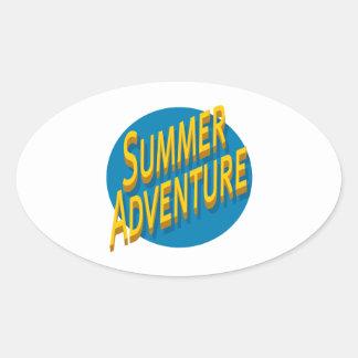 Summer Adventure Oval Sticker