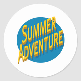 Summer Adventure Round Sticker