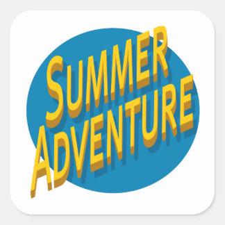 Summer Adventure Square Sticker