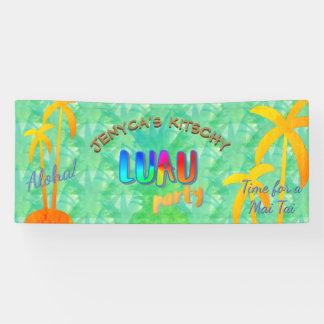Summer Aloha Pineapple Kitschy Luau Party Banner