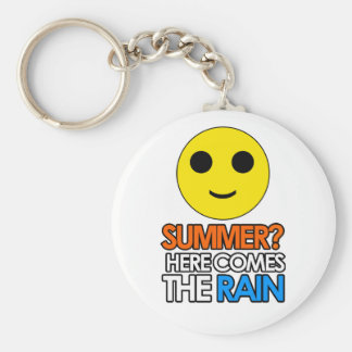 Summer and rain sarcastic message keychain