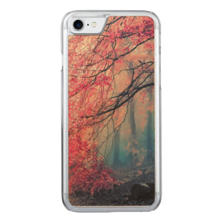Summer and winter in the forest carved iPhone 8/7 case