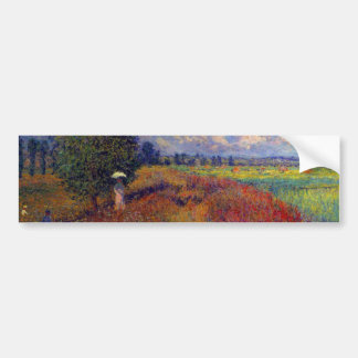 Summer art impressionist poppy fields by Monet Car Bumper Sticker