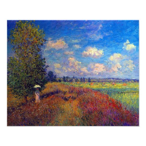 Summer art impressionist poppy fields by Monet Personalized Flyer