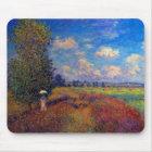 Summer art impressionist poppy fields by Monet Mouse Mat