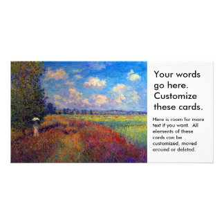 Summer art impressionist poppy fields by Monet Personalised Photo Card