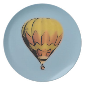 Summer Balloon Melamine Plate