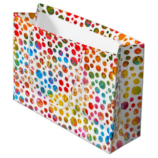 Summer Balls - Polka Dots Pattern Large Gift Bag