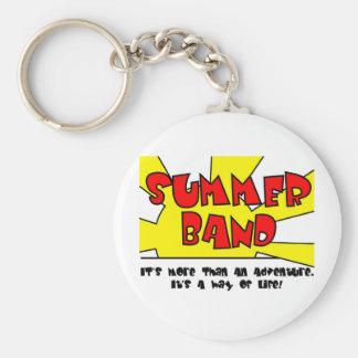 Summer Band Basic Round Button Key Ring