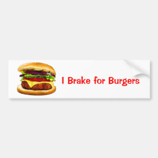 Summer Barbecue Burger Bumper Sticker