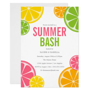 summer party invitations accouncements zazzle uk