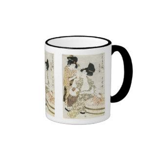 Summer Bath, Utamaro, 1800s Mug
