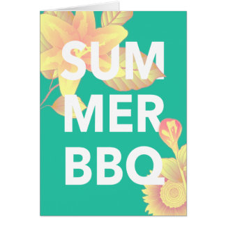SUMMER BBQ bright floral Card