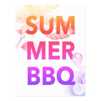 SUMMER BBQ bright floral Postcard