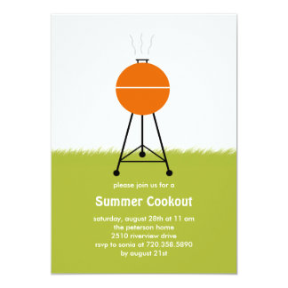 Summer BBQ Cookout Party Invitation