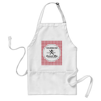 Summer BBQ Grill Cookout Reunion Red Gingham Check Standard Apron