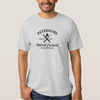 Summer BBQ Grill Cookout Reunion Red Gingham Check Tshirt