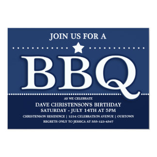 Summer BBQ Party Invitations