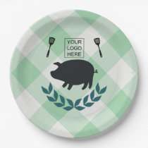 Summer BBQ Picnic Corporate Party Customisable Paper Plate