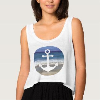 Summer Beach Anchor Tank Top