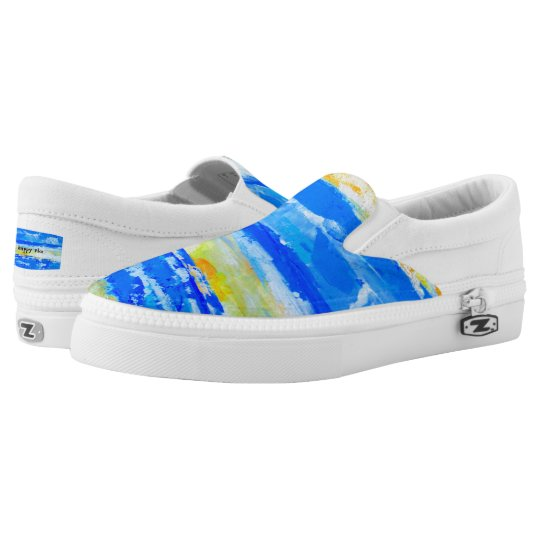 Summer Beach Artist-Designed Sneakers