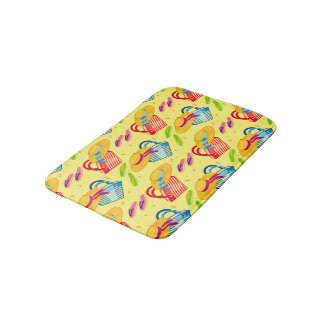 Summer beach bath mat