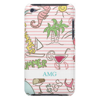 Summer Beach Cartoon Barely There iPod Case