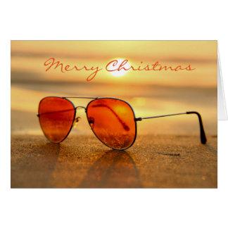 Summer Beach Christmas Greeting Card
