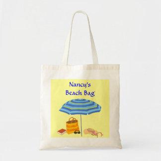 Summer Beach Day Umbrella Sunglasses Book Custom Canvas Bags