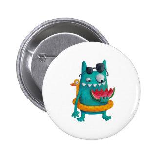 Summer Beach Monster 6 Cm Round Badge