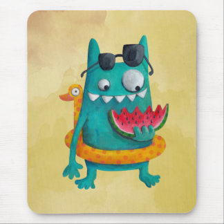 Summer Beach Monster Mouse Pad