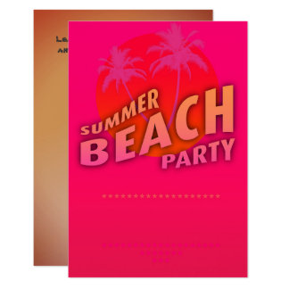Summer Beach party personalized invitation