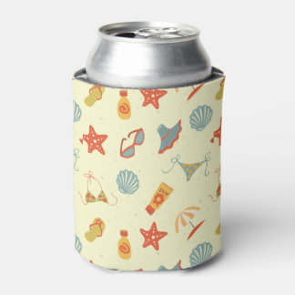 Summer Beach Pattern Can Cooler