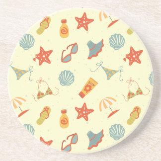 Summer Beach Pattern Coaster