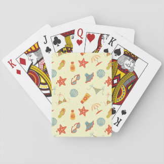 Summer Beach Pattern Playing Cards