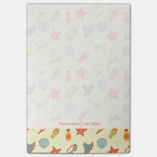 Summer Beach Pattern Post-it® Notes