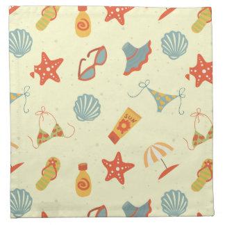 Summer Beach Pattern Printed Napkin