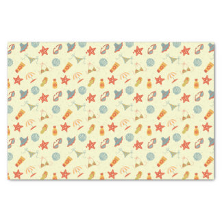 Summer Beach Pattern Tissue Paper