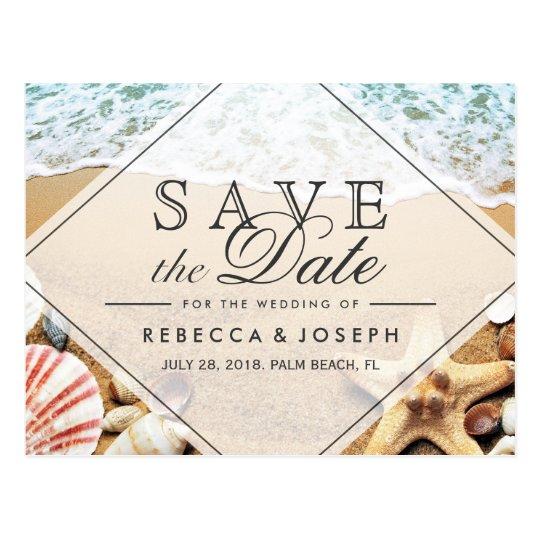 Summer Beach Photo Starfish Wedding Save the Date