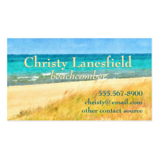 Summer Beach Scene Double-Sided Standard Business Cards (Pack Of 100)